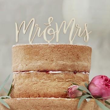 Cake topper Mr Mrs boho