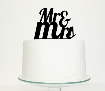 Cake topper romántico Mr & Mrs