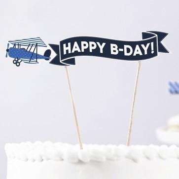 comprar decoración de tarta con avión