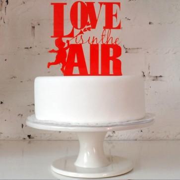 Adorno de tarta Love is in the Air