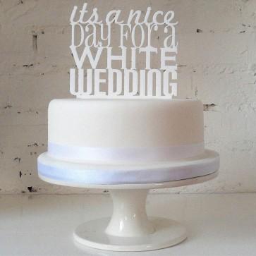 Nice Day Nice Wedding, adorno de tarta