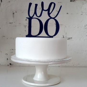 Cake topper We do! para los más enamorados