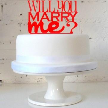 Cake topper para pastel ¿te quieres casar conmigo?
