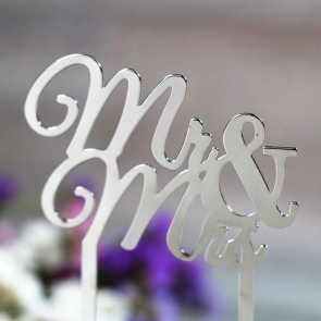 Cake topper Mr Mrs