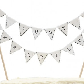 Cake topper banderines Just Married