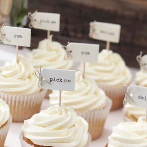 Cake toppers para cupcakes