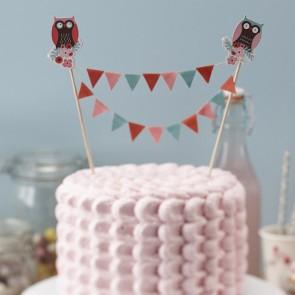 Cake topper búhos