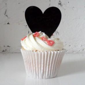 Minicaketopper corazón cupcakes TTopers