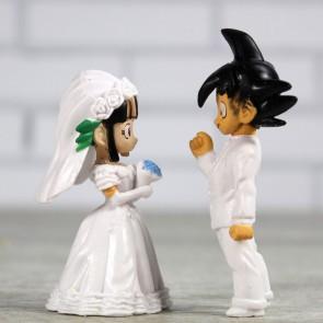 Goku y Chichi vestidos de novios