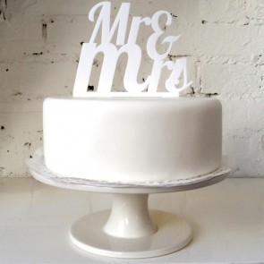 Cake topper romántico Mr & Mrs