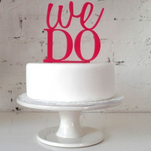 Cake topper We do! para los más enamorados